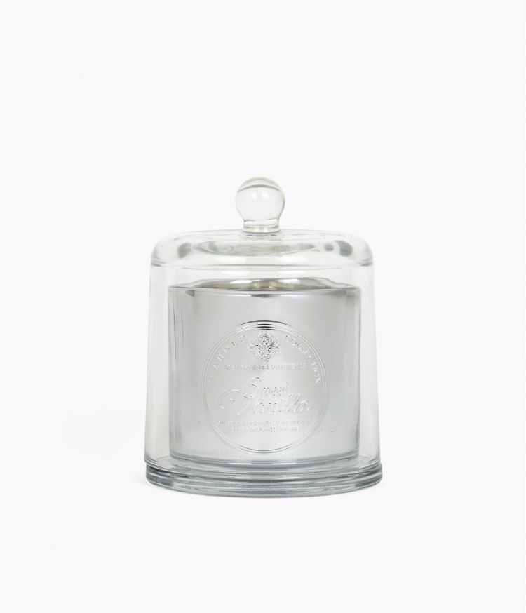 bougie cloche metal  pm sweet vanilla