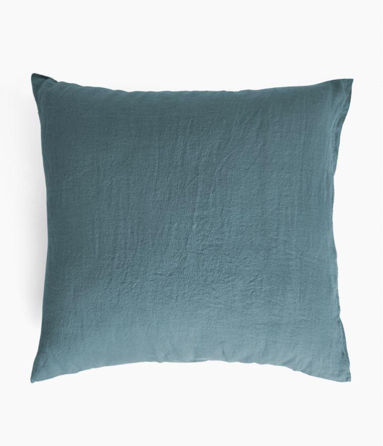 taie oreiller 65*65 bleu stone